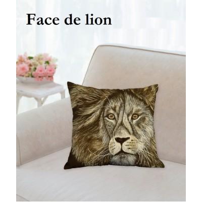 Coussin face de lion  (plusieurs formats)