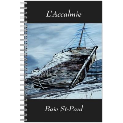 Cahier ligné L'Accalmie en hiver, 80 pages